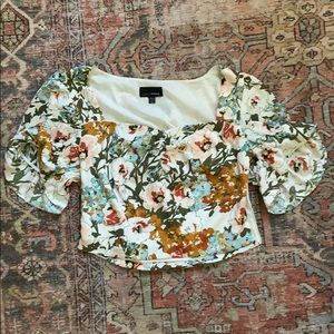 Lucy Paris Gathered Floral Crop